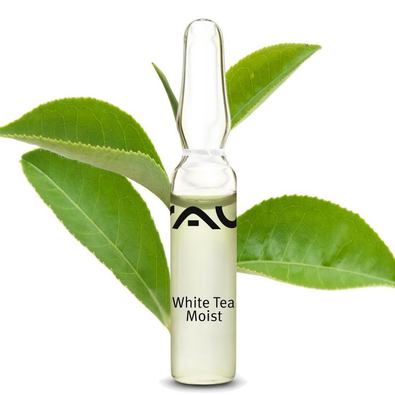 """""""RAU White Tea Moist Ampoules"""" 3x2 ml koncentrāta ampulas sejas un kakla ādai"""