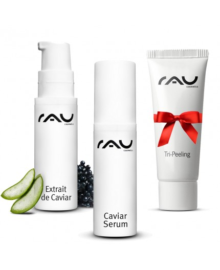 """RAU Extrait de Caviar 24h"" 5 ml, ""RAU Caviar Serum"" 5 ml, ""RAU Tri-Peeling"" 5ml"