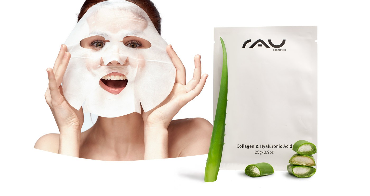 RAU COLLAGEN & HYALURONIC ACID FLEECE MASK
